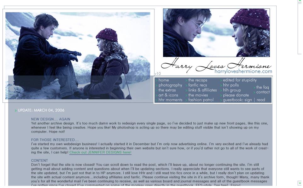 Harry Loves Hermione com | The original HHR website ]